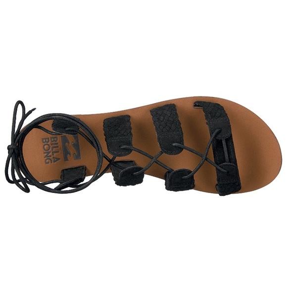 b1c2706c5 NWT Billabong Black Beach Bandit Gladiator Sandal